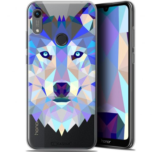 "Coque Gel Huawei Honor 8A (6.1"") Extra Fine Polygon Animals - Loup"