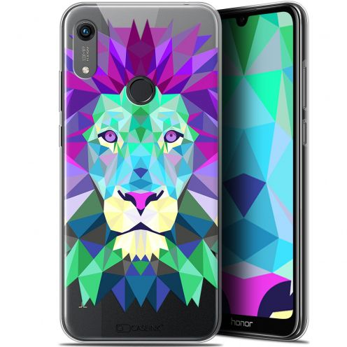"Coque Gel Huawei Honor 8A (6.1"") Extra Fine Polygon Animals - Lion"