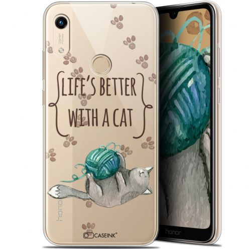 """Coque Gel Huawei Honor 8A (6.1"""") Extra Fine Quote - Life's Better With a Cat"""