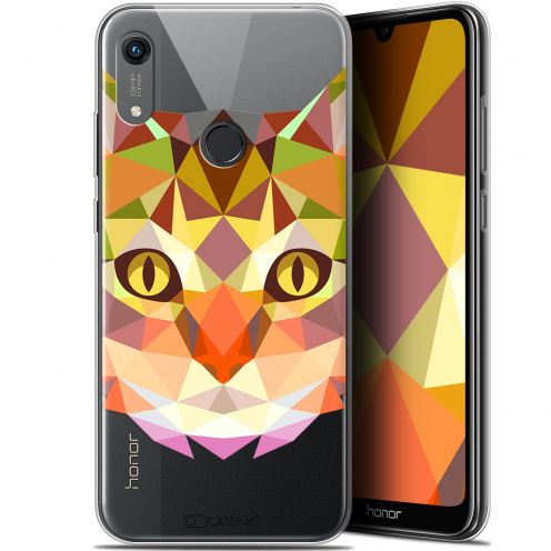 "Coque Gel Huawei Honor 8A (6.1"") Extra Fine Polygon Animals - Chat"