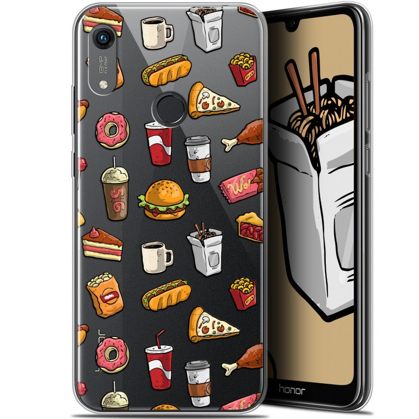 """Coque Gel Huawei Honor 8A (6.1"""") Extra Fine Foodie - Fast Food"""