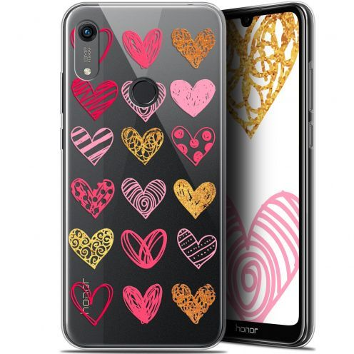 "Coque Gel Huawei Honor 8A (6.1"") Extra Fine Sweetie - Doodling Hearts"