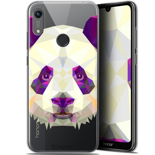 "Coque Gel Huawei Honor 8A (6.1"") Extra Fine Polygon Animals - Panda"