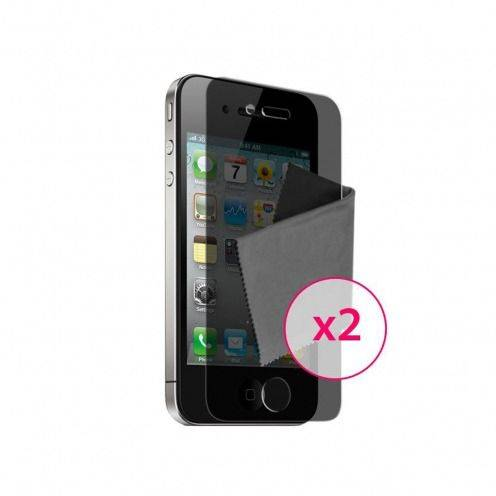 Films de protection Privacy Anti-Reflet iPhone 4 / 4S Clubcase ® Lot de 2