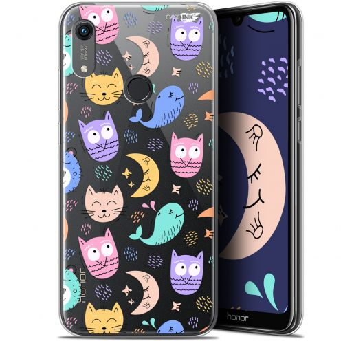 "Coque Gel Huawei Honor 8A (6.1"") Extra Fine Motif - Chat Hibou"