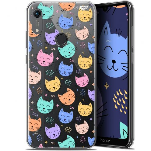 "Coque Gel Huawei Honor 8A (6.1"") Extra Fine Motif - Chat Dormant"