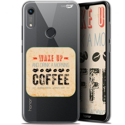 "Coque Gel Huawei Honor 8A (6.1"") Extra Fine Motif - Wake Up With Coffee"