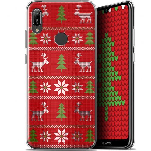 """Coque Gel Huawei Y6 2019 (6.1"""") Extra Fine Noël 2017 - Couture Rouge"""