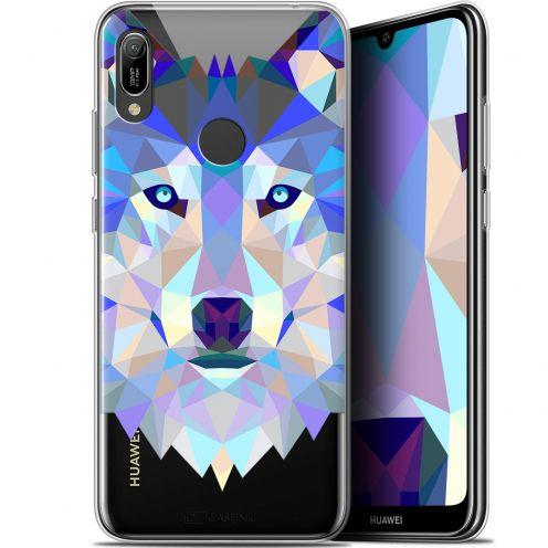 "Coque Gel Huawei Y6 2019 (6.1"") Extra Fine Polygon Animals - Loup"