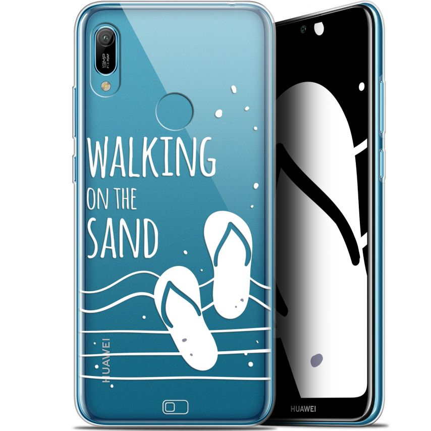 """Coque Gel Huawei Y6 2019 (6.1"""") Extra Fine Summer - Walking on the Sand"""