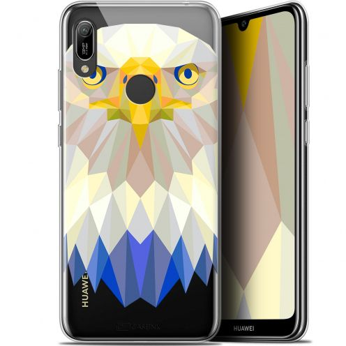 "Coque Gel Huawei Y6 2019 (6.1"") Extra Fine Polygon Animals - Aigle"