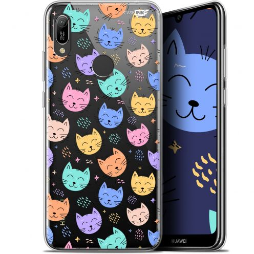 "Coque Gel Huawei Y6 2019 (6.1"") Extra Fine Motif - Chat Dormant"