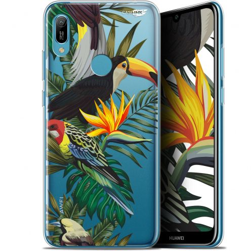 "Coque Gel Huawei Y6 2019 (6.1"") Extra Fine Motif - Toucan Tropical"