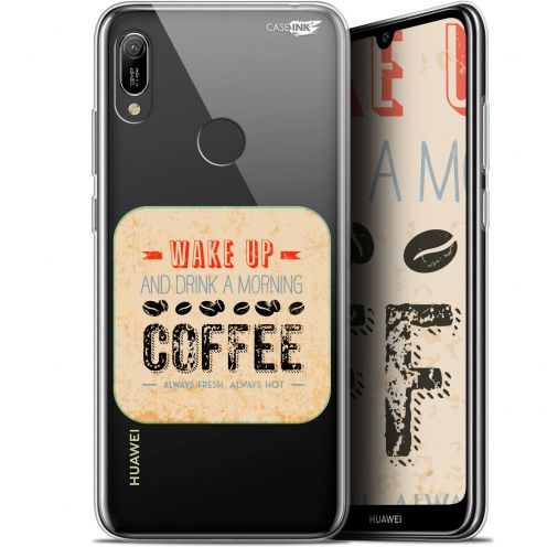 "Coque Gel Huawei Y6 2019 (6.1"") Extra Fine Motif - Wake Up With Coffee"