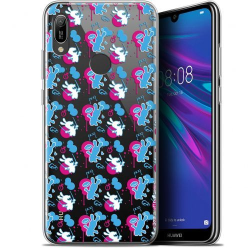 "Coque Gel Huawei Y6 2019 (6.1"") Extra Fine Lapins Crétins™ - Rugby Pattern"
