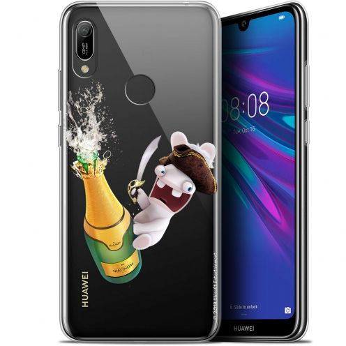 """Coque Gel Huawei Y6 2019 (6.1"""") Extra Fine Lapins Crétins™ - Champagne !"""