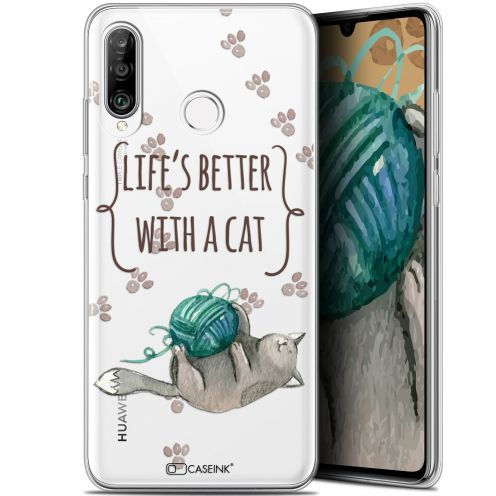 "Coque Gel Huawei P30 Lite (6.2"") Extra Fine Quote - Life's Better With a Cat"