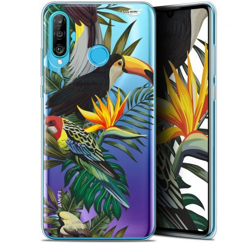 "Coque Gel Huawei P30 Lite (6.2"") Extra Fine Motif - Toucan Tropical"