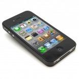 Vue portée de Coque Ultra Fine 0.3mm Frost iPhone 4/4S Noire