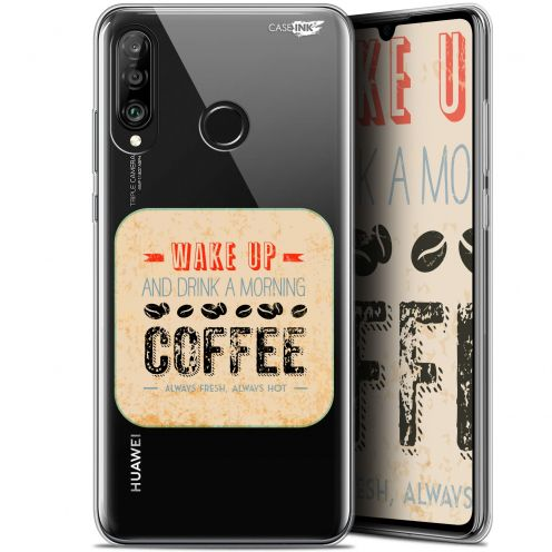 """Coque Gel Huawei P30 Lite (6.2"""") Extra Fine Motif -  Wake Up With Coffee"""