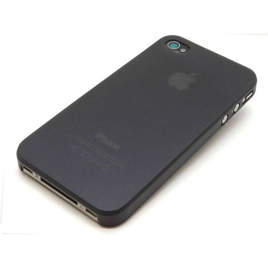Visuel unique de Coque Ultra Fine 0.3mm Frost iPhone 4/4S Noire
