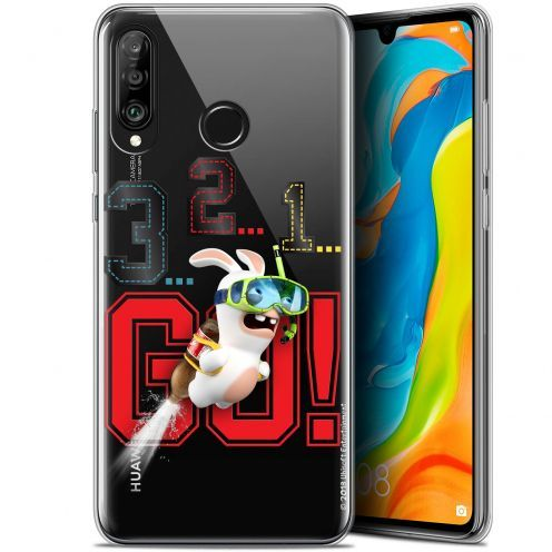 "Coque Gel Huawei P30 Lite (6.2"") Extra Fine Lapins Crétins™ - 321 Go !"