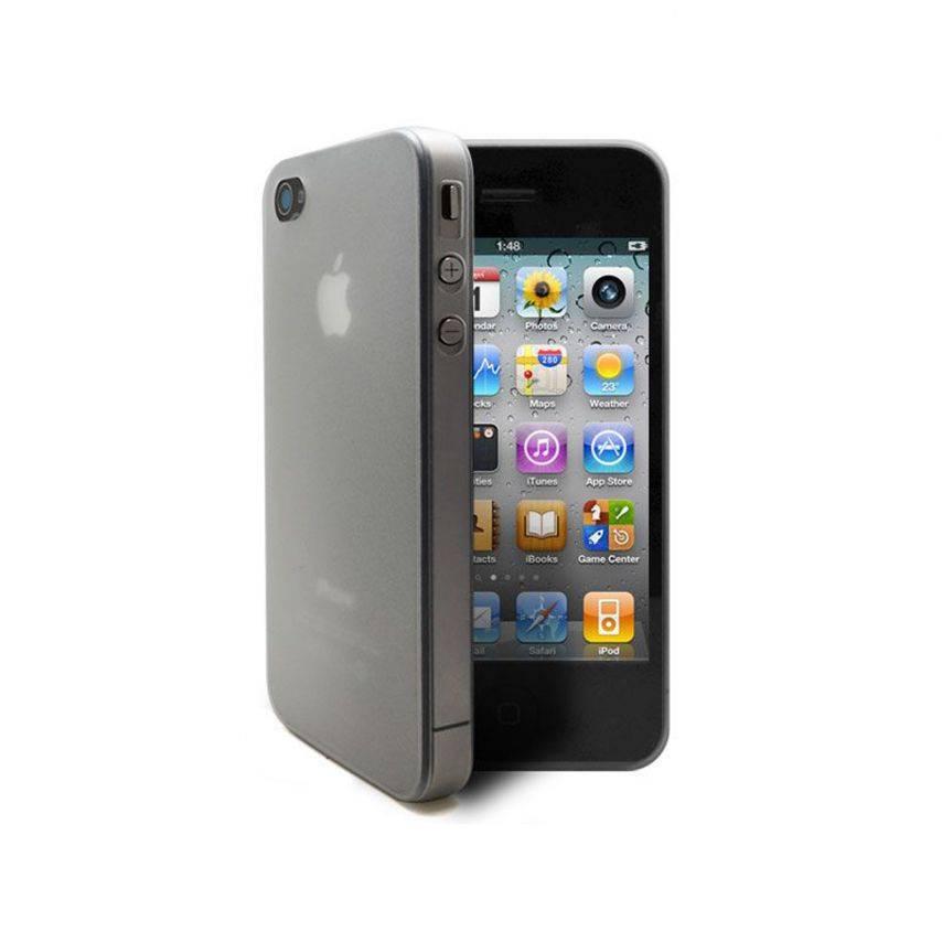 Vue complémentaire de Coque Ultra Fine 0.3mm Frost iPhone 4/4S Blanche