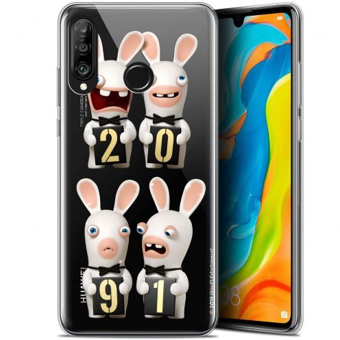 "Coque Gel Huawei P30 Lite (6.2"") Extra Fine Lapins Crétins™ - New Year"