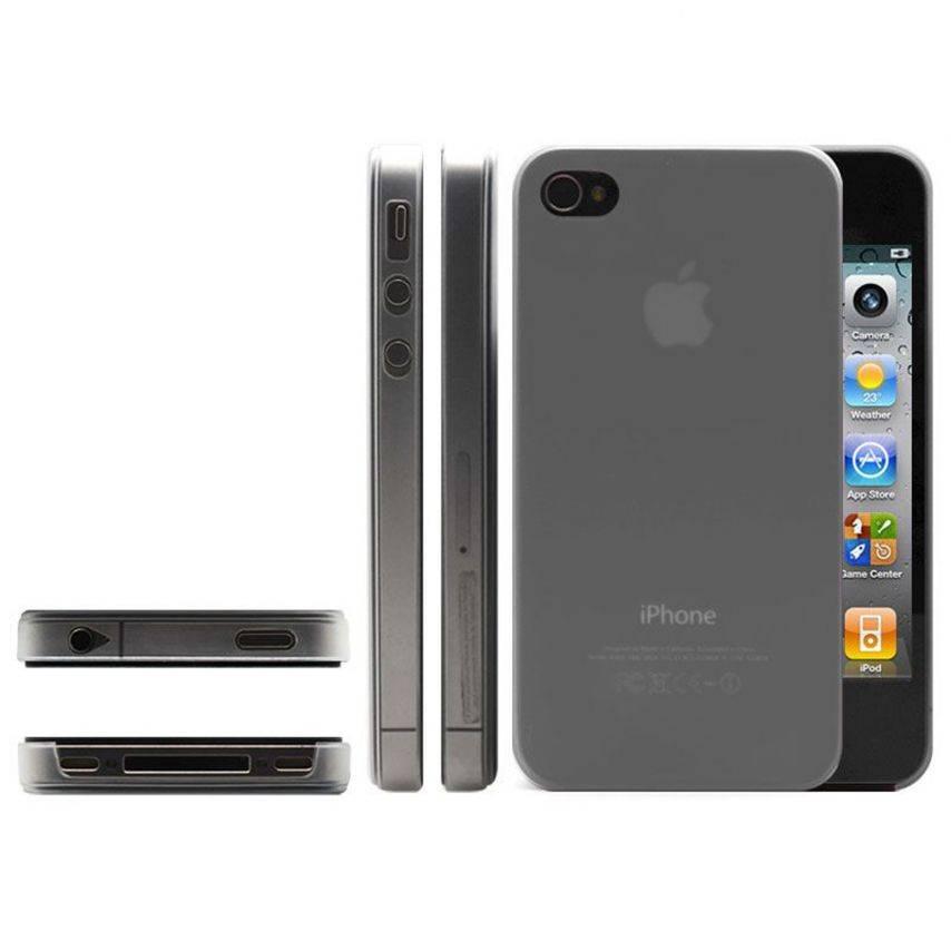 Photo réelle de Coque Ultra Fine 0.3mm Frost iPhone 4/4S Blanche