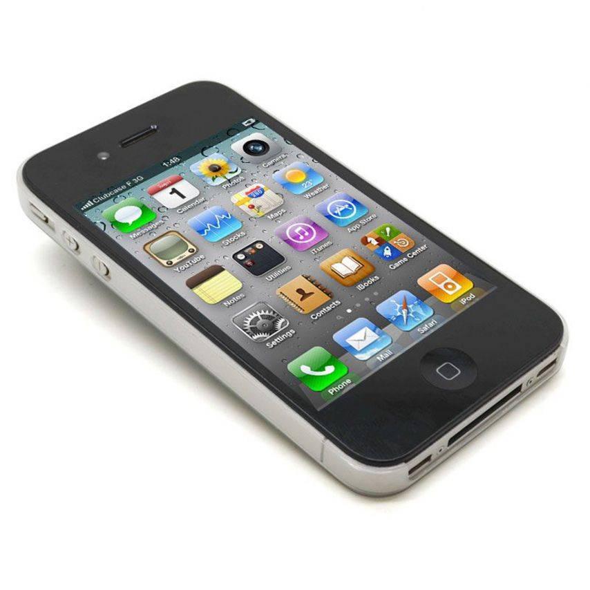 Vue portée de Coque Ultra Fine 0.3mm Frost iPhone 4/4S Blanche