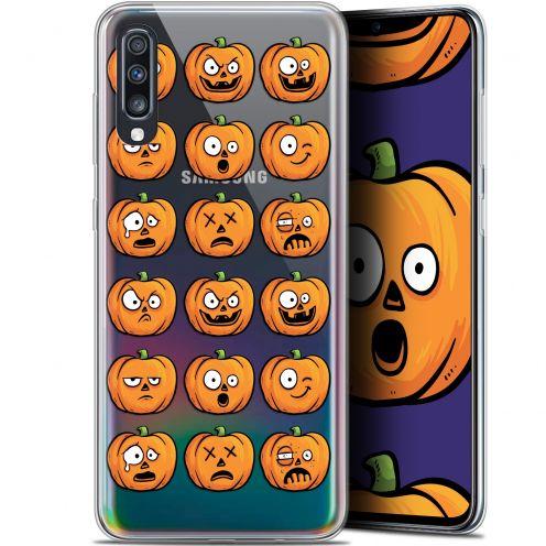 "Coque Gel Samsung Galaxy A70 (6.7"") Extra Fine Halloween - Cartoon Citrouille"