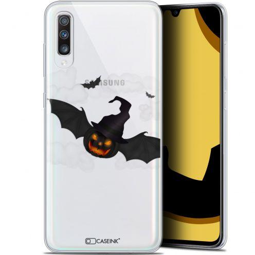 "Coque Gel Samsung Galaxy A70 (6.7"") Extra Fine Halloween - Chauve Citrouille"
