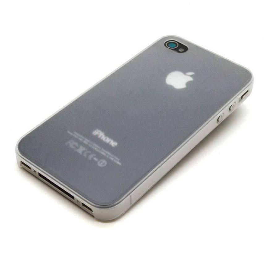 Visuel unique de Coque Ultra Fine 0.3mm Frost iPhone 4/4S Blanche