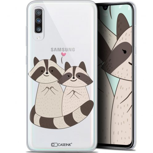 "Coque Gel Samsung Galaxy A70 (6.7"") Extra Fine Sweetie - Racoon Love"
