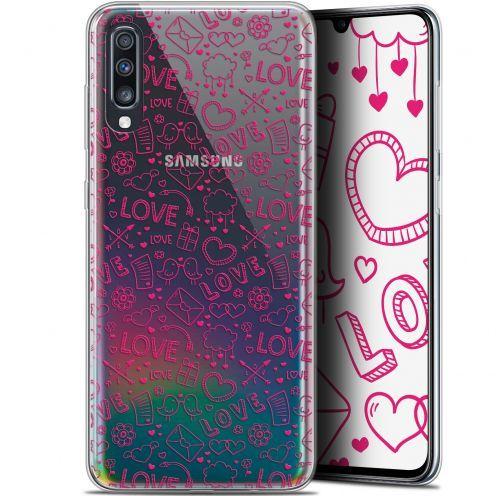 """Coque Gel Samsung Galaxy A70 (6.7"""") Extra Fine Love - Doodle"""