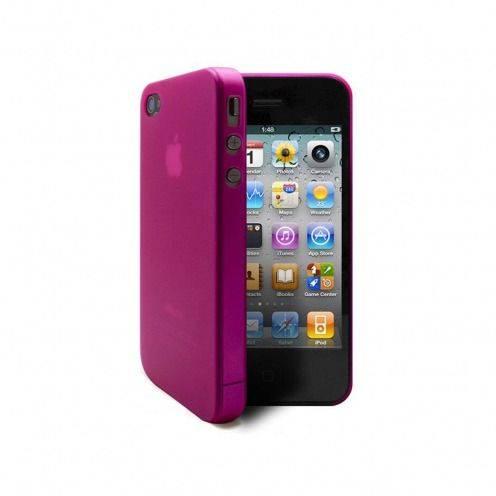 Vue complémentaire de Coque Ultra Fine 0.3mm Frost iPhone 4/4S Rose