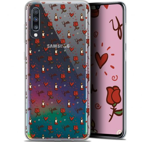 "Coque Gel Samsung Galaxy A70 (6.7"") Extra Fine Love - Bougies et Roses"