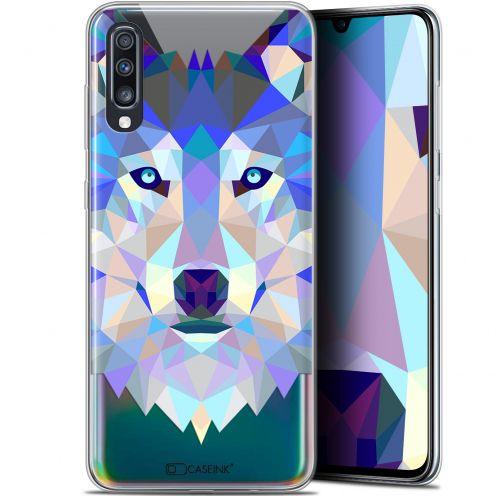 "Coque Gel Samsung Galaxy A70 (6.7"") Extra Fine Polygon Animals - Loup"