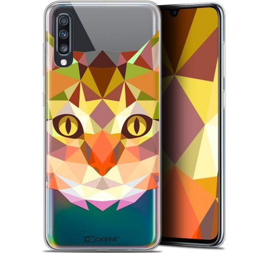 """Coque Gel Samsung Galaxy A70 (6.7"""") Extra Fine Polygon Animals - Chat"""