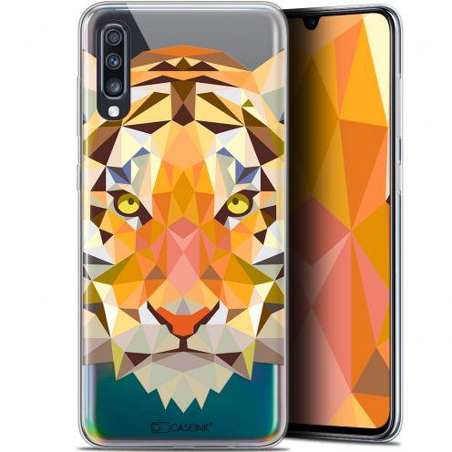 """Coque Gel Samsung Galaxy A70 (6.7"""") Extra Fine Polygon Animals - Tigre"""
