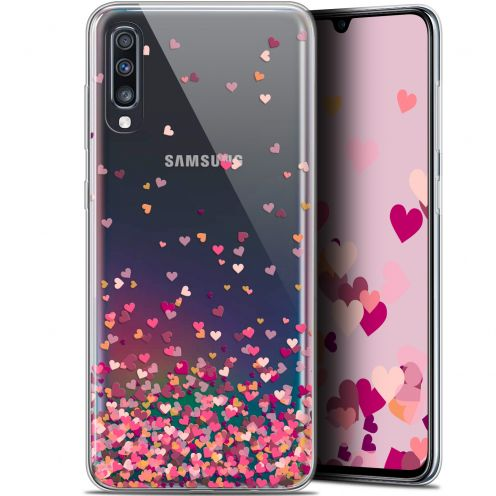 "Coque Gel Samsung Galaxy A70 (6.7"") Extra Fine Sweetie - Heart Flakes"