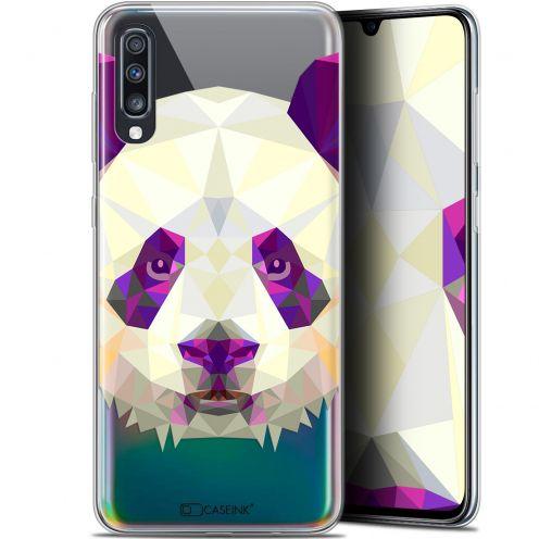 "Coque Gel Samsung Galaxy A70 (6.7"") Extra Fine Polygon Animals - Panda"