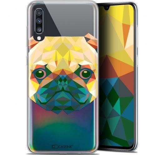 """Coque Gel Samsung Galaxy A70 (6.7"""") Extra Fine Polygon Animals - Chien"""