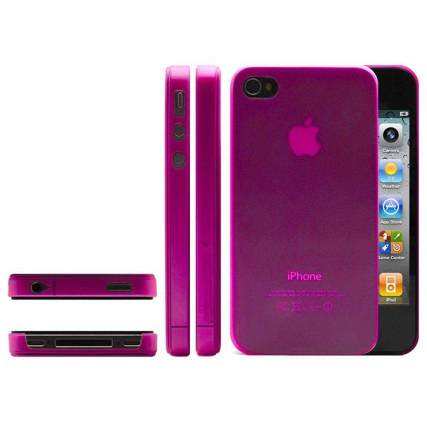 Photo réelle de Coque Ultra Fine 0.3mm Frost iPhone 4/4S Rose