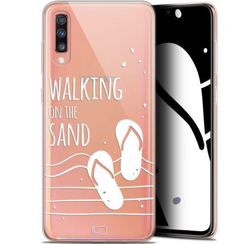 "Coque Gel Samsung Galaxy A70 (6.7"") Extra Fine Summer - Walking on the Sand"