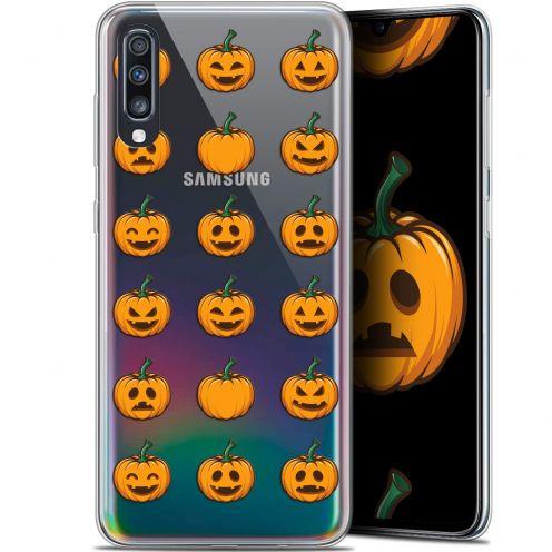 "Coque Gel Samsung Galaxy A70 (6.7"") Extra Fine Halloween - Smiley Citrouille"