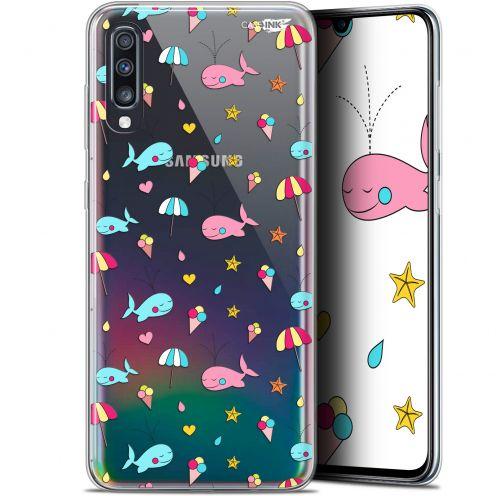 """Coque Gel Samsung Galaxy A70 (6.7"""") Extra Fine Motif - Baleine à la Plage"""