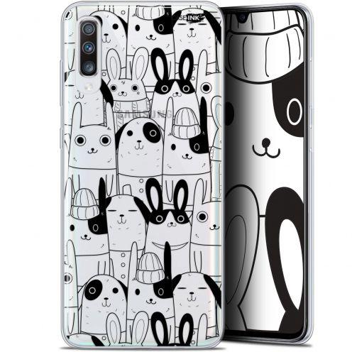 "Coque Gel Samsung Galaxy A70 (6.7"") Extra Fine Motif - Lapin Noir"