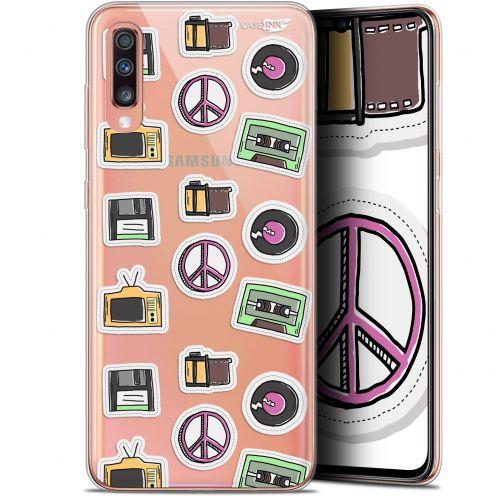 """Coque Gel Samsung Galaxy A70 (6.7"""") Extra Fine Motif -  Vintage Stickers"""