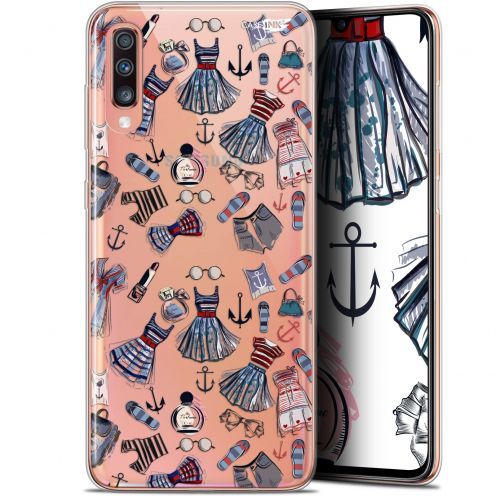 """Coque Gel Samsung Galaxy A70 (6.7"""") Extra Fine Motif - Fashionista"""